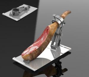 Distributeur de griffe et support à jambon professionnel en acier: Saigo HB6